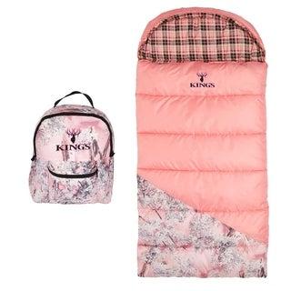 King's Hunter Series Junior 25-degree F Pink Shadow Camo Youth Sleeping Bag
