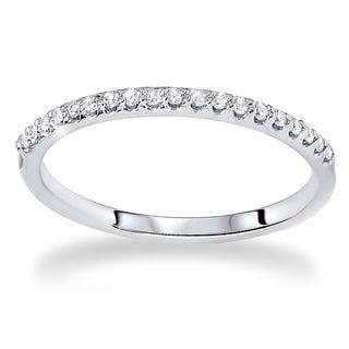 Bliss 14k White Gold 1/5ct TDW Diamond Wedding Ring (G-H, SI2-I1)