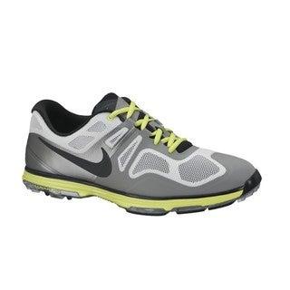 Nike Men's Lunar Ascend II Grey/ Black/ Venom Green Golf Shoes