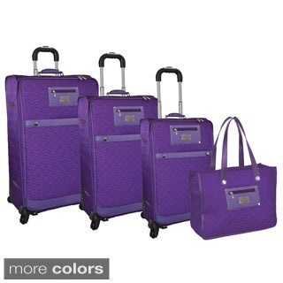Adrienne Vittadini Quilted 4-piece Spinner Luggage Set