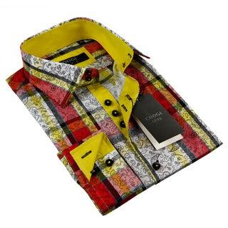 Coogi Luxe Men's Multi-colored Button Down Dress Shirt