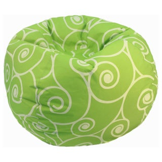 Lime Scrolls and Swirls Bean Bag Chair