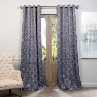 Seville Damask Tan Blackout Grommet Curtain Panel
