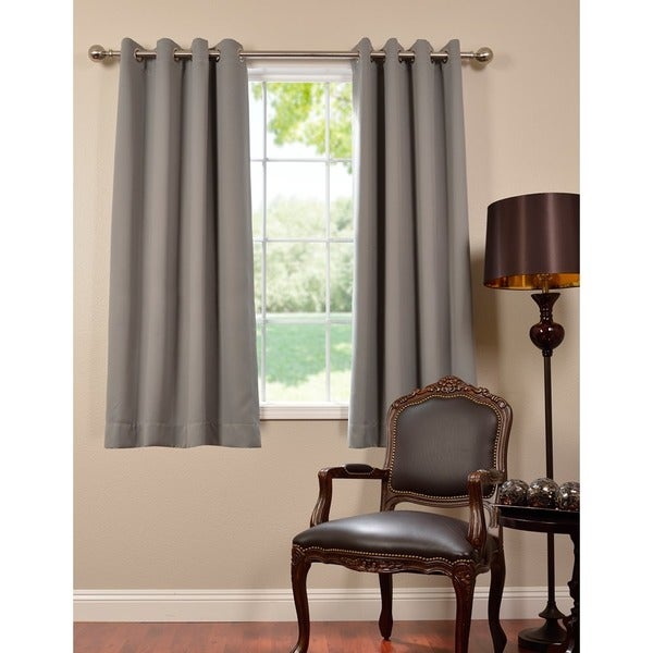 Thermal Blackout Grommet 63-inch Curtain Panel Pair - Overstock ...