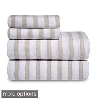 Yarn-Dyed 100 Percent Cotton Flannel Sheet Set