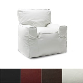 BeanSack Big Joe Suite Vegan Leather Bean Bag Arm Chair