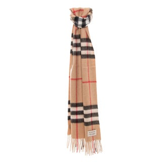 Burberry Heritage Check Cashmere Scarf