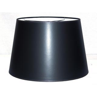 Black Hardback Large Modified Drum Shade with Self Trim