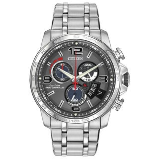 Citizen Men's BY0100-51H Chronograph Stainless Steel Grey Dial Watch