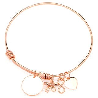 La Preciosa Circle/ Heart/ Infinity/ Bow Adjustable Charm Bangle