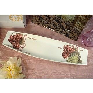 D'Lusso Designs Grape Design Long Flat Dish