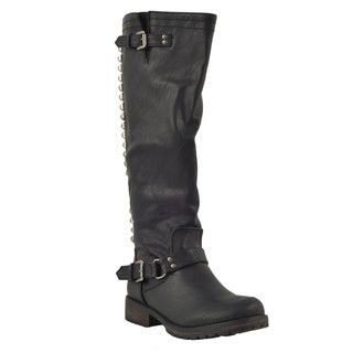 Breckelle's Trooper-14 Women's Studs Knee-high Riding Boots