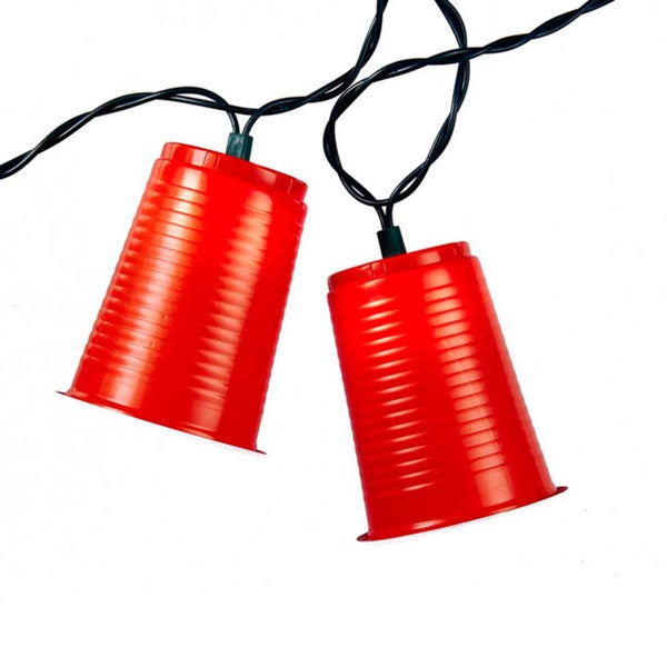 Kurt Adler UL 10-light Red Party Cup Light Set