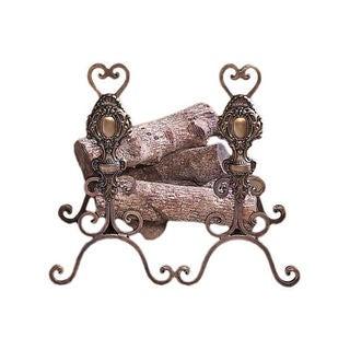 Bronze Iron Tuscany Andirons