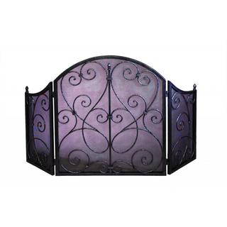 Pewter Scroll Firescreen