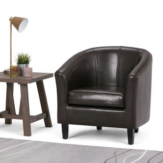 Parker Faux Leather Accent Tub Chair