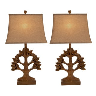 Casa Cortes Tree of Life 30-inch Table Lamps (Set of 2)