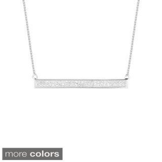 14k Gold 0.25ct TDW Diamond Two Row Trapeze Bar Necklace (G-H, I1)