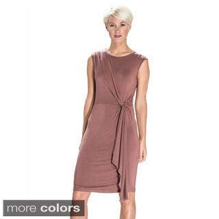 Amelia Women's Draped-side Sleeveless Dress
