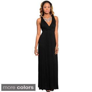 Stanzino Women's Sleeveless Knot-back Maxi Dress