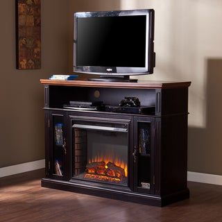Upton Home Monaghan Ebony Stain/Dark Tobacco Media Electric Fireplace
