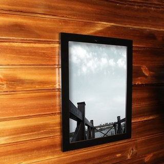 Adeco 24-inch x 36-inch Black Poster Frame/ Picture Frame with Clear Plexiglass Window