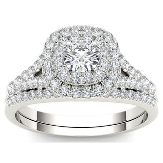 De couer 10k White Gold 1ct TDW Diamond Engagement Ring (H-I, I2)