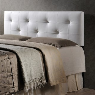 Baxton Studio Kirchem White Modern Upholstered Headboard