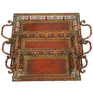 3-piece Turkish Metal Tray Set