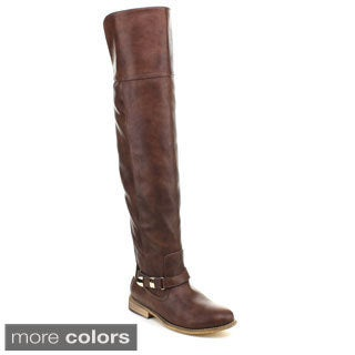 Puzzle 'Taylor-17' Women's Ankle Strap Over-the-knee Riding Boots