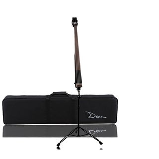 Dean Upright Pace Bass- Classic Black with Case Electric Bass Guitar