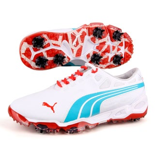 Puma Men's Biofusion White/ Blue/ Grenadine Golf Shoes