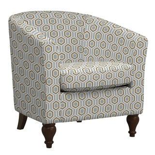 Portfolio Marly Honeycomb Sea Foam Blue Barrel Arm Chair