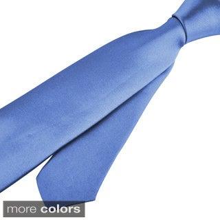 Zodaca Colorful Men Polyester Silk Thin Slim Necktie