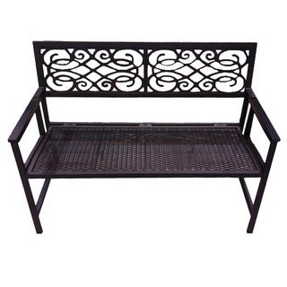 Folding Bench with Resin Wicker Seat