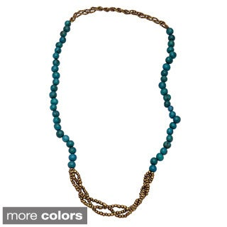 Cassidy Acai Seed and Glass Bead Long Necklace (Bolivia)