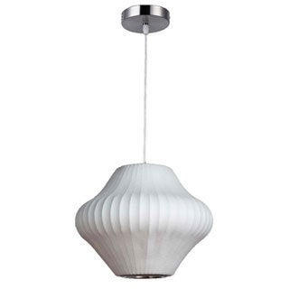 Legion Furniture 14-inch White Cocoon Ceiling Pendant
