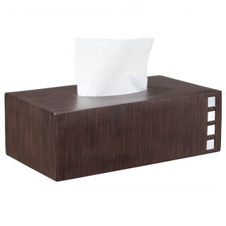 Marquee Brown Mirrored Rectangular Tissue Box