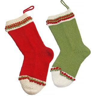 Alpaca 2-piece Christmas Stocking Set (Peru)