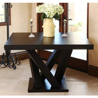 ABBYSON LIVING Cosmo Espresso Wood Square Dining Table