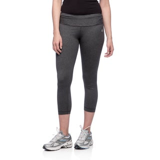 RBX Activewear Women's Striped Yoga Capri Pants