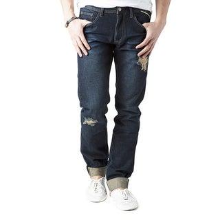 Simple Living High Thinking Jeans Men's 'Kana' Dark Indigo Cuffed Jeans