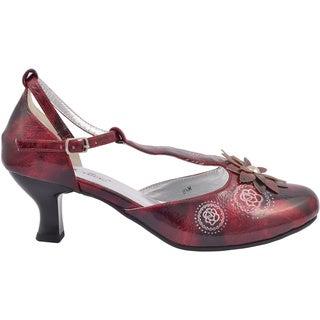 Ann Creek Women's 'Talea' Ted T-strap Kitten Heels