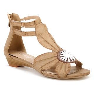 Ann Creek Women's 'Balsam' Natural Ribbon-motif Sandals