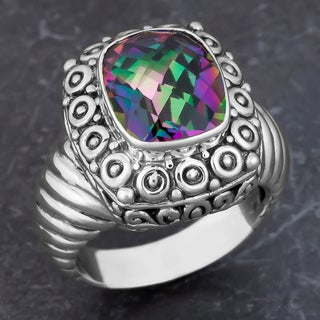 Sterling Silver Mystic Topaz Cawi Ring (Indonesia)
