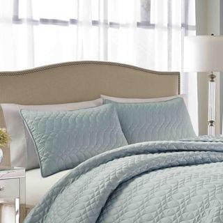 Nicole Miller Splendid Cloud Quilted 3-Piece Bedspread Set