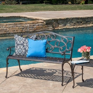 Christopher Knight Home McKinley Cast Outdoor Bench