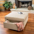 Christopher Knight Home Darby Square Fabric Storage Ottoman