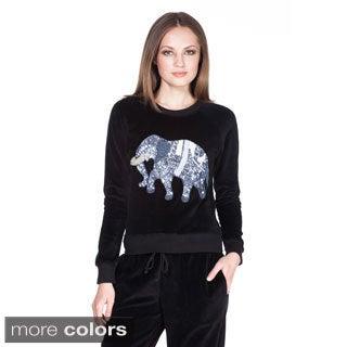 Von Ronen New York Juniors Elephant Applique Velour Top