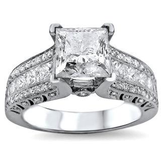 Noori 18k White Gold 2 1/3ct Princess-cut White Diamond Engagement Ring (G-H, SI1-SI2)